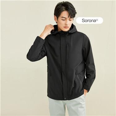 Sorona stretchy cargo hooded jacket