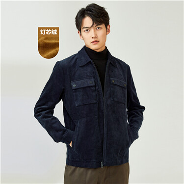 Corduroy multi-pocket cargo jacket