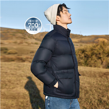 Stand collar 90% white duck down jacket