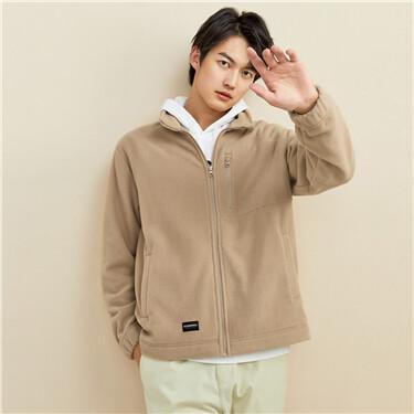 Polar fleece multi-pocket sweatshirt
