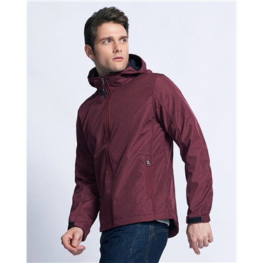 Hooded collar casual jacket