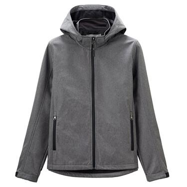 Hooded collar casual jacket