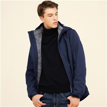 Polar fleece detachable hood jacket