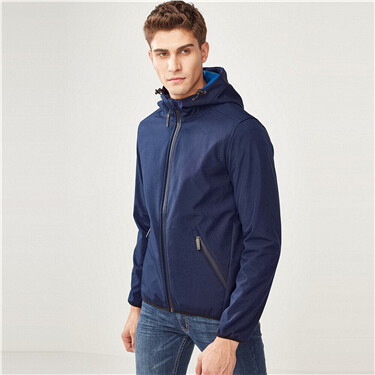 Mens G-MOTION windproof polar fleece hood jacket