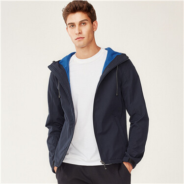 Windproof fleece hooded jacket