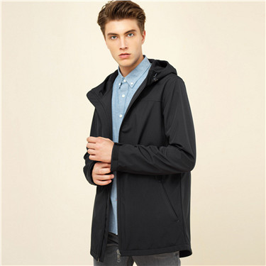Polar fleece hooded jacket