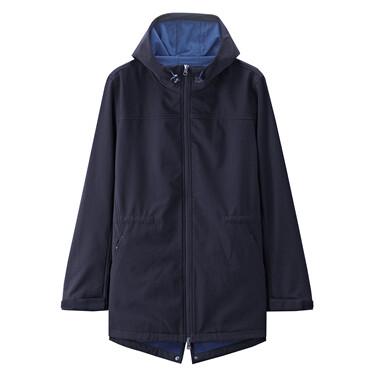 Polar fleece-lined hooded jacket