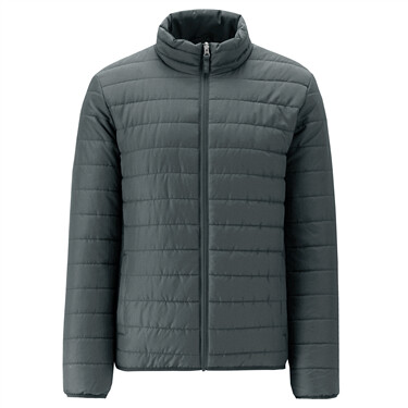 Stand collar quilted jacket