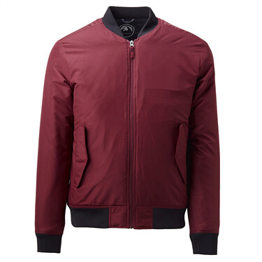 Thick quilted bomber jacket