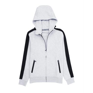 Contrast sleeves hoodie