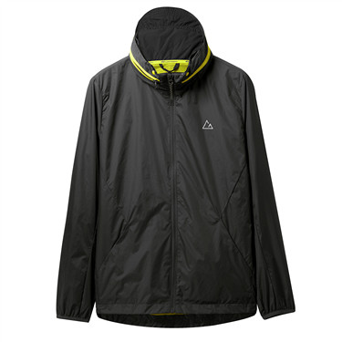 Mesh lining hidden hood jacket