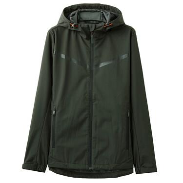 Mesh-Lining Hooded Jacket