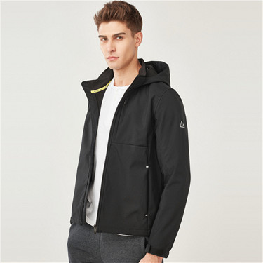 Reflective pattern detachable fleece jacket