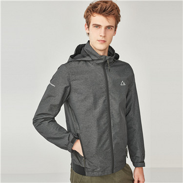 G-Motion mesh-lining stand collar detachable windbreaker