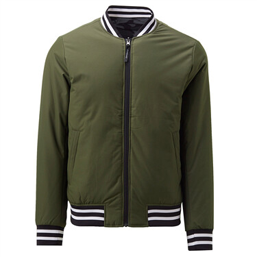 Reversible contrast stand collar jacket