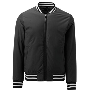 men Solid slim bomber jacket