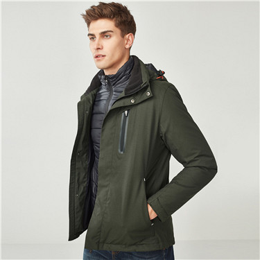 Reflective pattern quilted detachable jacket