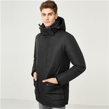 90% grey duck down detachable mid-long down jackets