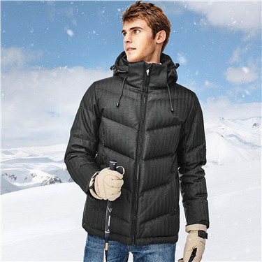 Detachable hooded down jacket