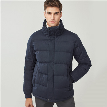 Grey goose down detachable down jacket