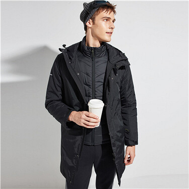 Reflective patten 3-in-1 hooded Coat