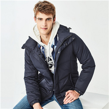 55% Grey duck down machine-washable detachable down jackets