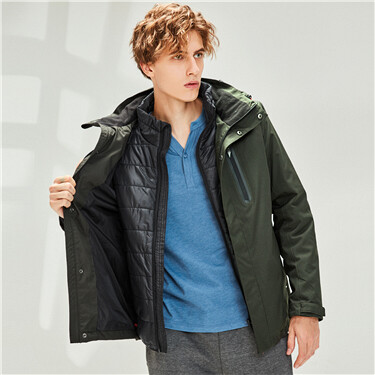 Reflective cotton padding 3 in 1 jacket