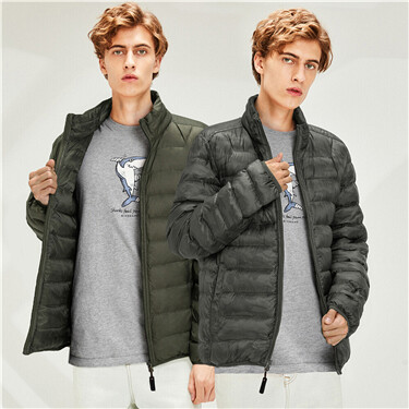 90% White duck down reversible lightweighted jacket