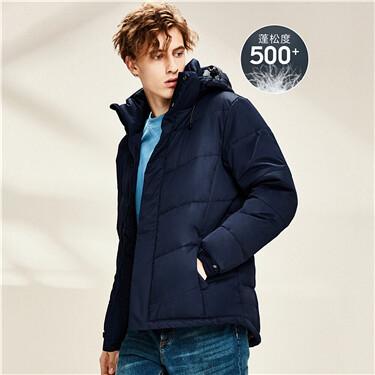 Machine washable 55% grey duck down jacket