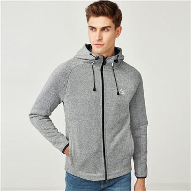 G-Motion reflective printed polar fleeced hooded jacket