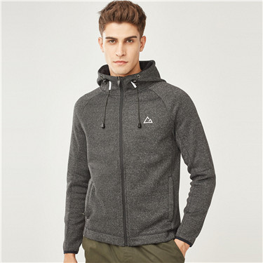 Mens G-MOTION reflective printed polar fleeced hooded jacket