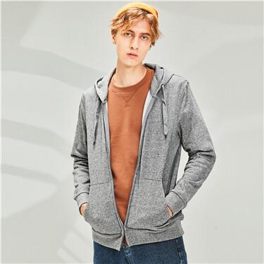 Plain kanga pockets hooded jacket