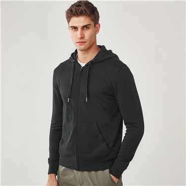 Solid kanga pocket hooded sweatshirt