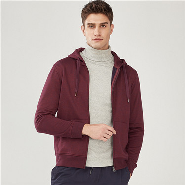 Solid kanga pocket hooded sweatshirt