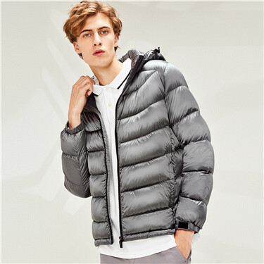90% White duck down detachable down jacket