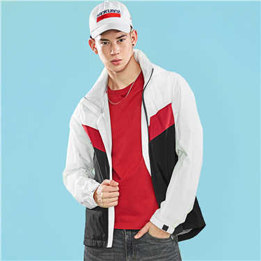 Mens G-MOTION Hidden hood windbreaker