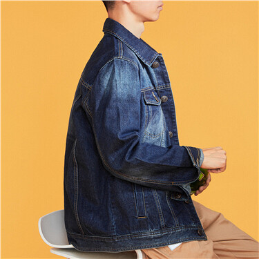 Patch pockets cargo denim jackets