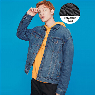 Cargo long-sleeve light denim jacket