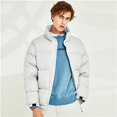 Stand collar 90% white duck down jacket