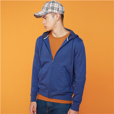 Kanga pocket long-sleeve jacket