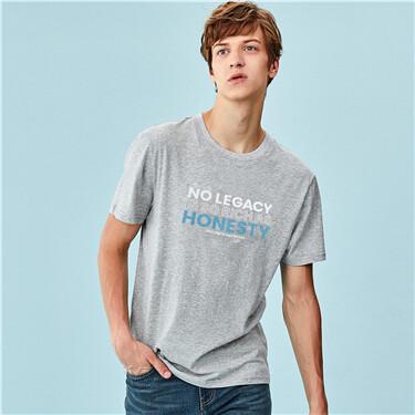 Printed letter crewneck t-shirt