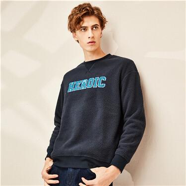 Printed polyester berber sweatshirt