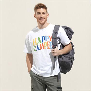 男裝HAPPY CAMPER短袖T恤