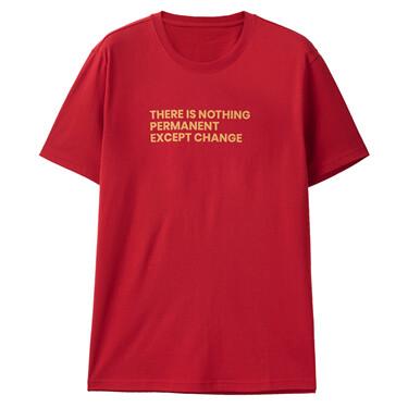 Letter Print Cotton Round Neck Short Sleeve T-Shirt