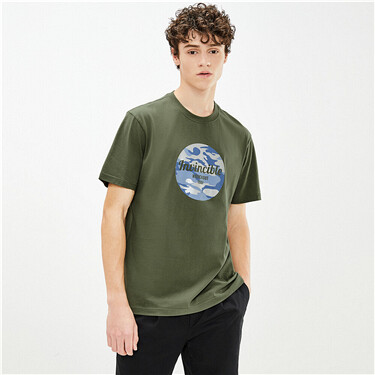 Reflective camouflage printing tee