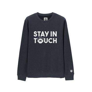 STAY IN TOUCH系列印花圓領套頭衛衣
