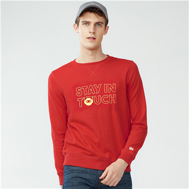 STAY IN TOUCH SERIES printed crewneck sweatshirt