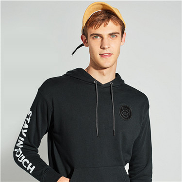 STAY IN TOUCH printed kanga pocket hoodie