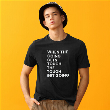 印花圓領短袖T恤