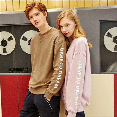Letter pattern long-sleeve sweatshirt